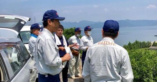 愛媛県議会 農林水産委員会 被災地視察